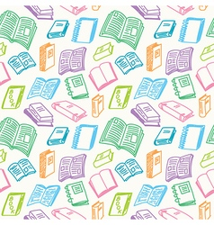 Books sketch seamless vector image