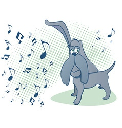 dog music vector image vector image