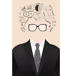 human face is made up of with drawing business vector image