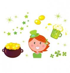 leprechaun icons vector image