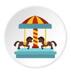 Merry go round horse ride icon circle vector