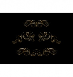 ornate scroll vector image vector image