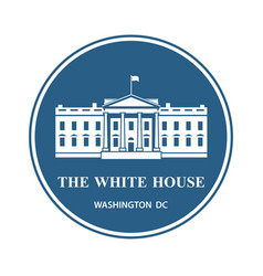 white house icon vector image