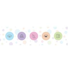 5 belt icons vector