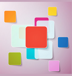 abstract background color boxes template vector image