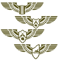 Abstract military badges vector image vector image