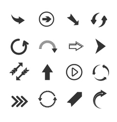 Arrow signs icons vector