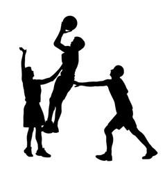 Basketball action vector