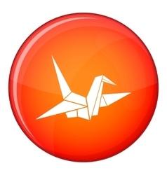 Bird origami icon flat style vector