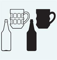 bottles beer vector image