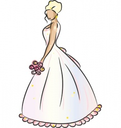 bride blonde vector image
