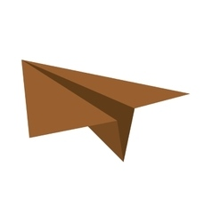 Brown paper plane project start up vector