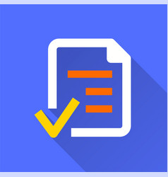 Business report - icon for graphic and web vector