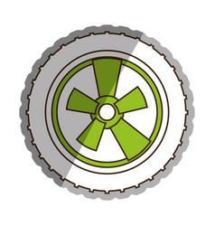 car wheel tire icon vector image