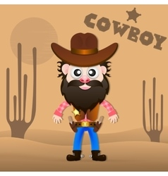 Cheerful cowboy vector image