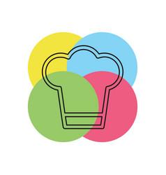 chef cap - restaurant symbol vector image