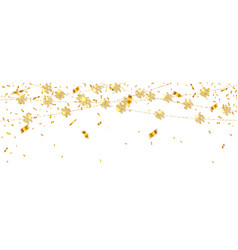 christmas or new year golden decoration on vector image