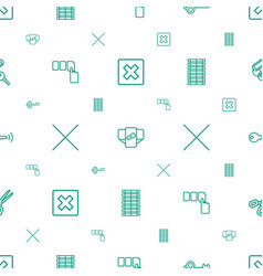 close icons pattern seamless white background vector image