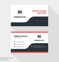 Creative business card print template flat design vector