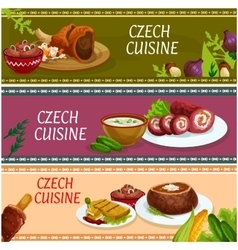 Czech cuisine banner set for food theme design vector