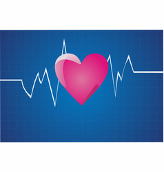 depicting a graph from a heart beat vector image