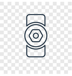 Doorknob linear icon isolated on transparent vector