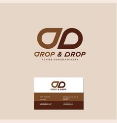 Double d monogram drop chocolate vector