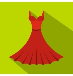 Dress icon flat style vector