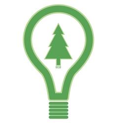 Eco Friendly Lightbulb vector