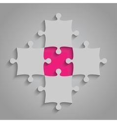 Element Puzzles JigSaw - 5 Pieces Pink vector