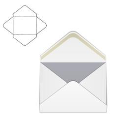 Envelope fold template 1 vector
