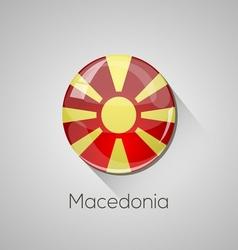 European flags set - Macedonia vector