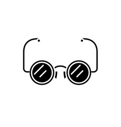 eyeglasses black icon sign on isolated vector image