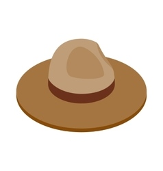 Farmer hat icon isometric 3d style vector
