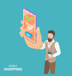 flat isometric concept of online shopping vector image