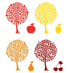 Fruit tree vector