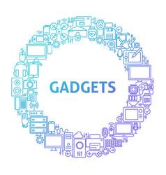 Gadget line icon circle concept vector