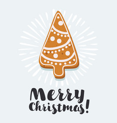 Gingerbread christmas tree vector