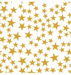 Golden stars seamless pattern vector
