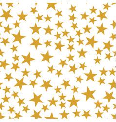 golden stars seamless pattern vector image vector image