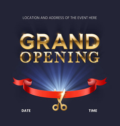 Grand opening ceremonial background vector