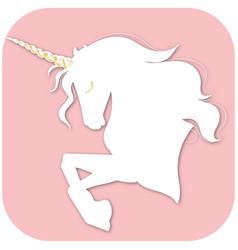 horse unicorn with magic horn unicorn vector image