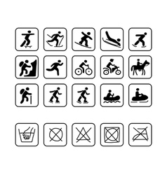 Icons for sport clothes design vector
