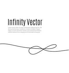 infinity in solid lines of drawing continuous vector image