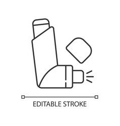 Inhaler linear icon vector