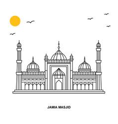 jama masjid monument world travel natural vector image