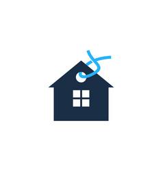 label house logo icon design vector image