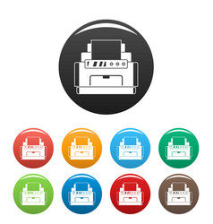 laser printer icons set color vector image