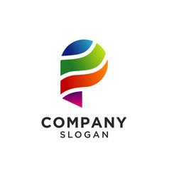 Letter p logo design for corporate identity design vector