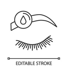 makeup removal linear icon vector image
